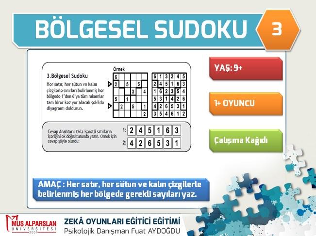 Bolgesel Sudoku Fuat Aydogdu